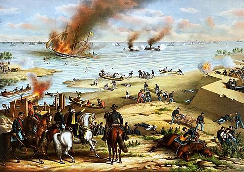 Battle of Hampton Roads, ca. 1889 by Vintage Printery