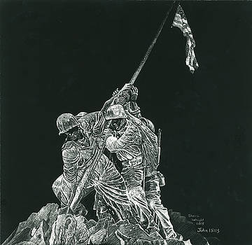 Battle of Iwo Jima Memorial by Shara Wright