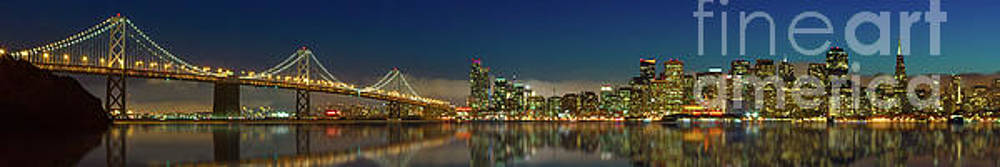 Bay Bridge and City Skyline by Jerry Fornarotto