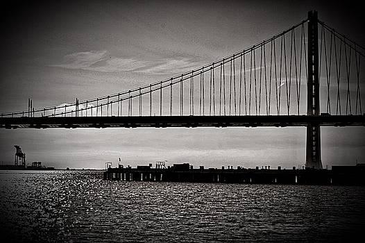 Bay Bridge in Black and White by Phil Bearce
