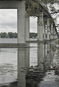 Michael Rutland - Bay Bridge with reflection