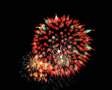 Bay City Fireworks - 2018  H by Tom Clark