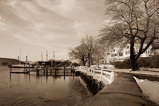 Bay Street in Winter - Mystic CT by Kirkodd Photography Of New England