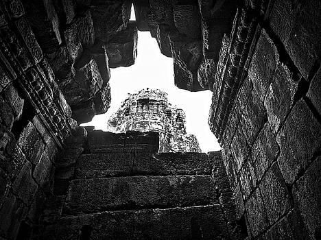 Bayon Crumbling Ceiling  by Paki O'Meara