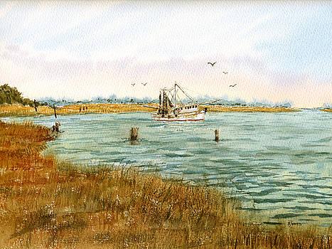 Bayou Shrimping by Barry Jones