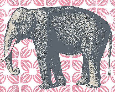 Bazaar Elephant Pink by Thomas Paul