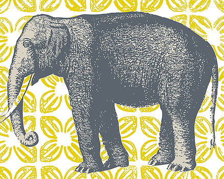 Bazaar Elephant Yellow by Thomas Paul