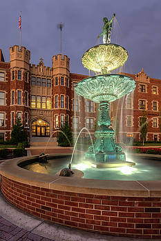 B.C. Fountain and St. Benedict Hall by Mark McDaniel