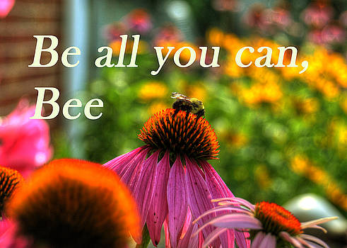 Be All You Can, Bee card by Darin Williams