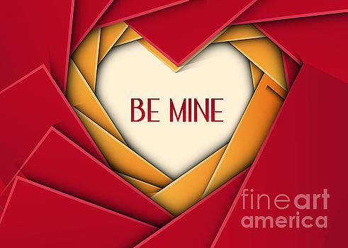 Be Mine Geometric Heart by JH Designs