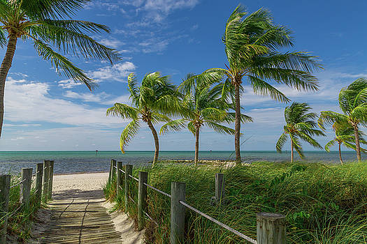 Beach Access Smather's Beach Key West Florida by Kimberly Blom-Roemer