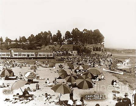 California Views Mr Pat Hathaway Archives - Beach at Capitola California Circa 1935