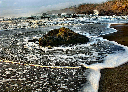 Beach at Jenner by the Sea by Kathleen Storey