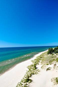 Beach at Silver Lake Sand Dunes in Michigan by Samantha Boehnke