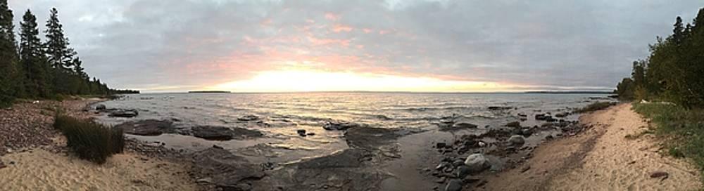 Beach at Sunset  by Paula Brown