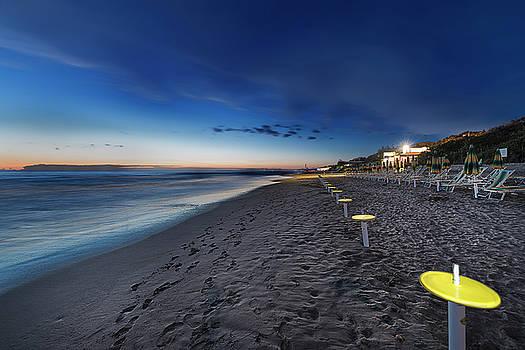 Beach At Sunset - Spiaggia Al Tramonto I by Enrico Pelos