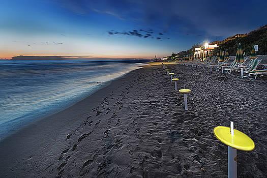 Beach At Sunset - Spiaggia Al Tramonto Ii by Enrico Pelos