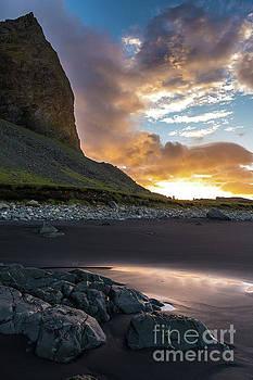 Beach at Vestrahorn Sunrise Skies by Mike Reid