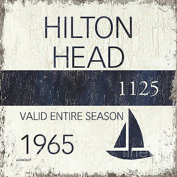 Beach Badge Hilton Head by Debbie DeWitt