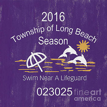 Beach Badge Long Beach by Debbie DeWitt