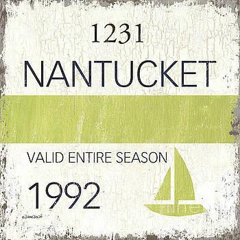 Beach Badge Nantucket by Debbie DeWitt