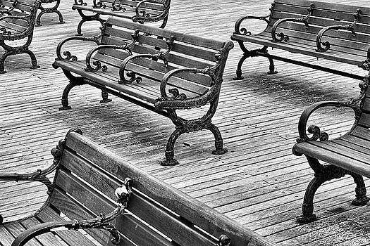 Beach Benches by Laurence Nozik