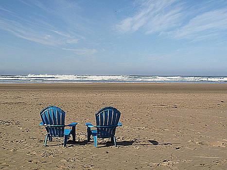Beach Chair Pair by Suzy Piatt