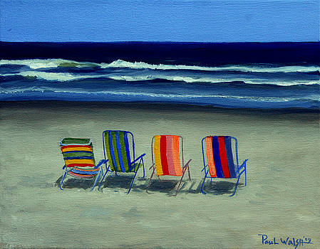 Beach Chairs by Paul Walsh