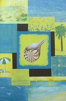 Beach Collage by Dixie Hester