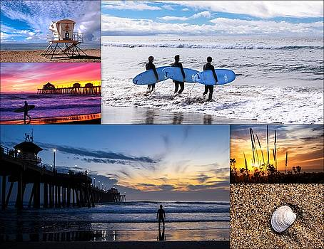 Beach Collage by Kip Krause