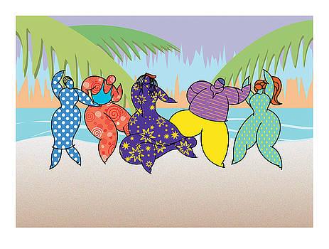 Beach Dancers by Steve Ellis
