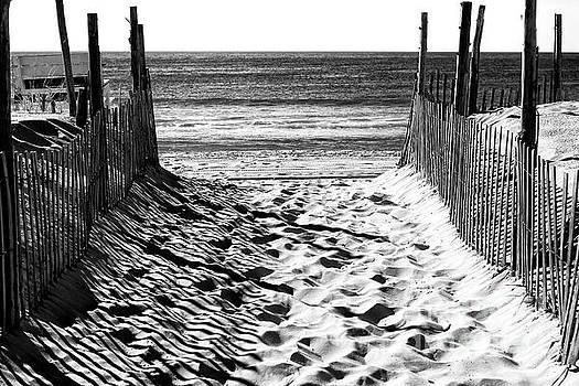 John Rizzuto - Beach Entry black and white Long Beach Island