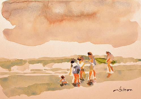 Beach family day by Julianne Felton