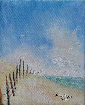 Beach Fence by Judith Rhue