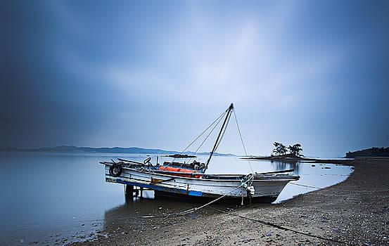 Beach Fishing Boat by Martin Bennie