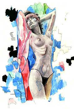 Beach girl by Jose Roldan Rendon
