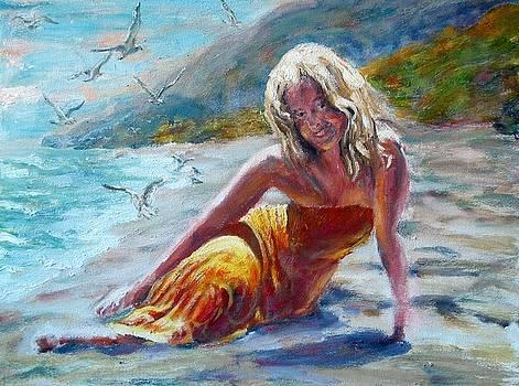 Beach Girl by Menq Tsai