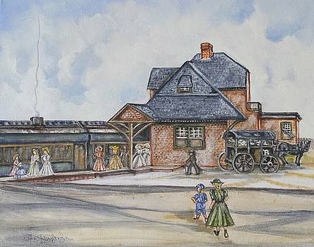 Beach Haven Railroad Station by Anne Buffington