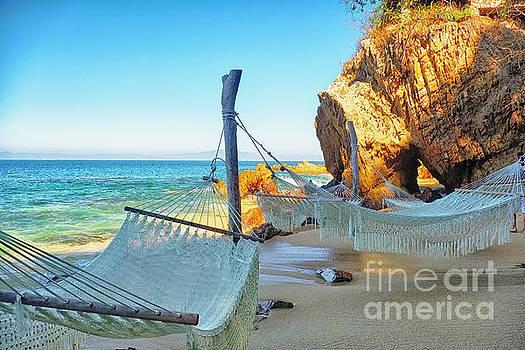 Beach Hideaway with Hammocks by George Oze