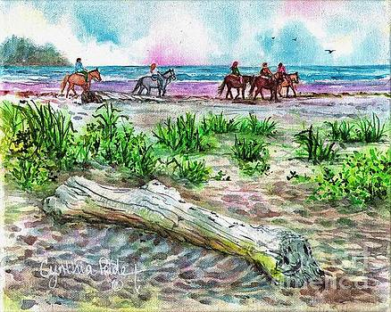 Beach Horseback Riding by Cynthia Pride