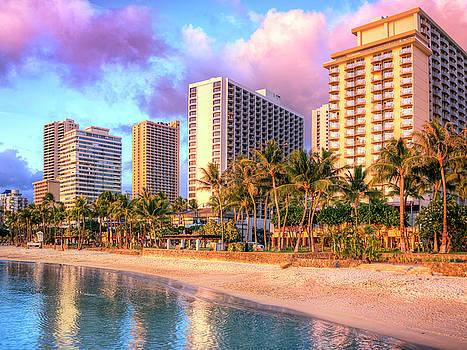 Dominic Piperata - Beach Hotels at Sunset