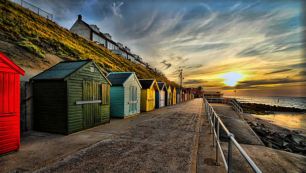 Beach Huts at Sheringham by Andy Griffiths