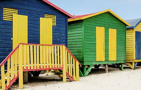 Beach Huts at St. James Beach. by Rob Huntley