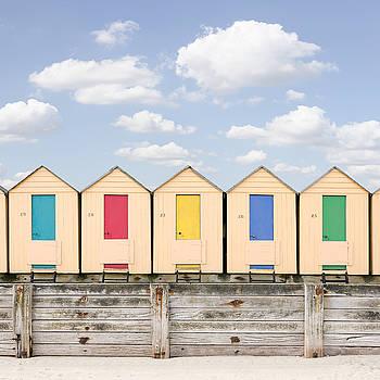 Beach Huts by Ian David Soar