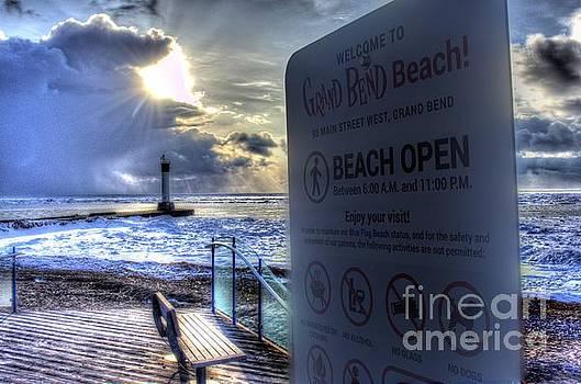 Beach Open Squall by John Scatcherd