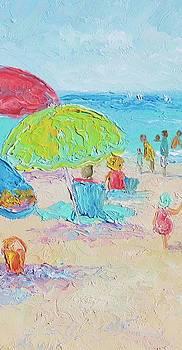 Jan Matson - Beach Painting - A Relaxing Day