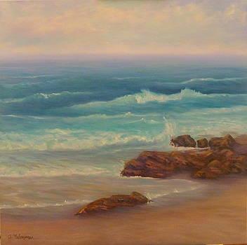 Beach painting beach rocks  by Amber Palomares
