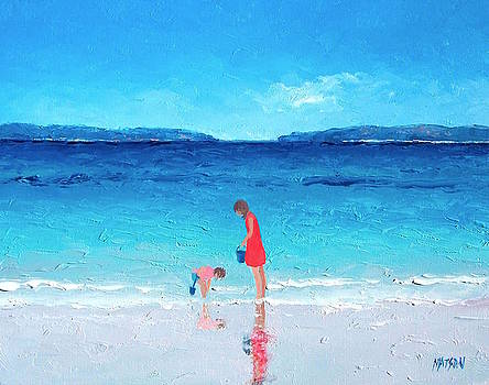 Jan Matson - Beach painting - Cooling Off