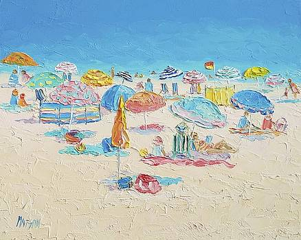 Jan Matson - Beach Painting - Crowded Beach