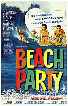 Daniel Hagerman - BEACH PARTY LOBBY PROMO with FRANKIE AVALON AUTOGRAPH  1963
